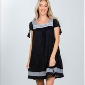 2/$25 Black Cotton Boho Dress